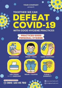 poster showing how to prevent covid