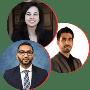 Ahsan, Kumail and Devina headshot